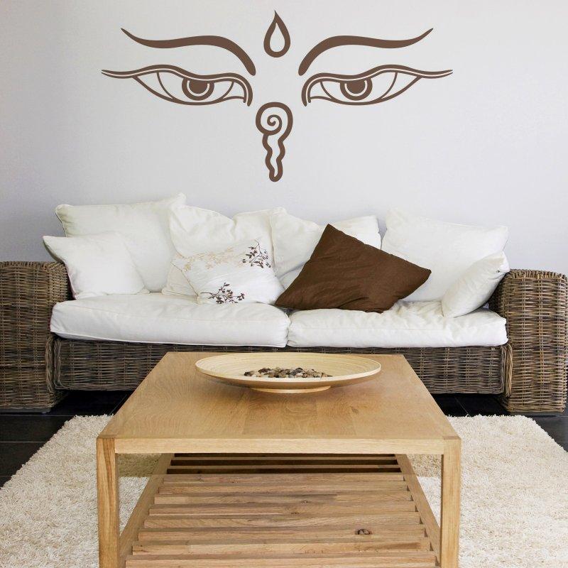 wandtattoo buddha augen 19 90. Black Bedroom Furniture Sets. Home Design Ideas