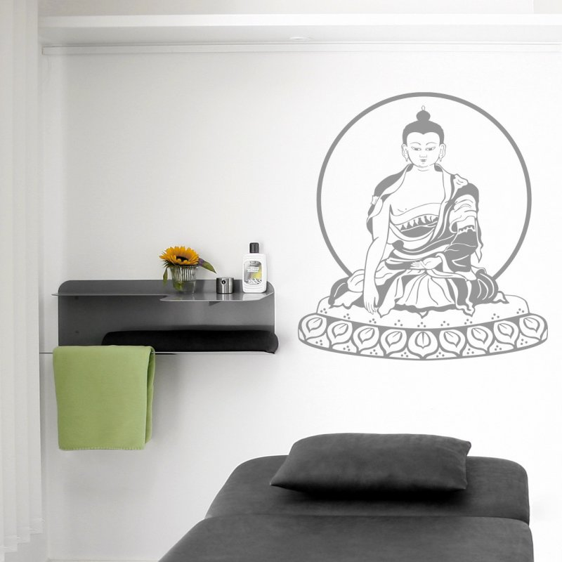 wandtattoo buddha 69 90. Black Bedroom Furniture Sets. Home Design Ideas