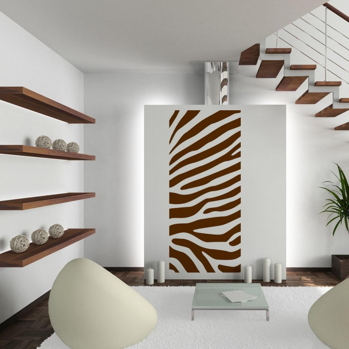 Wandtattoo wt267e wandbanner zebra muster wanddekoration for Fliesen outlet hamm